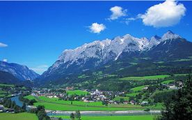 Pfarrwerfen and the beautiful mountain panorama