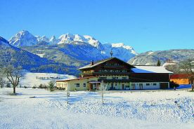 practice ski lift in front of hotel