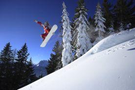 Snowboarding at Werfenweng