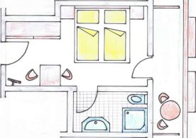 draft of a double room