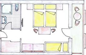 draft of a family room